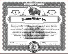 Wyoming Whiskey license